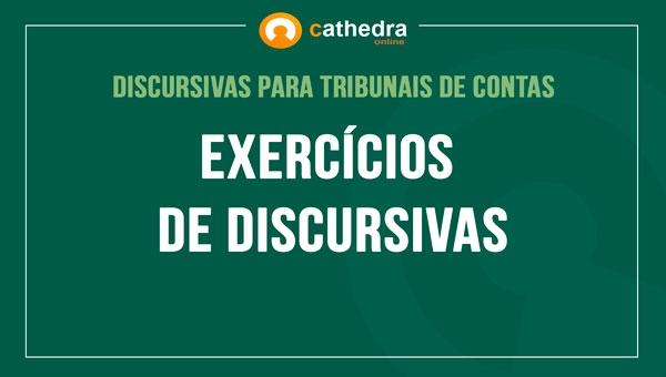 Exercícios de Discursivas